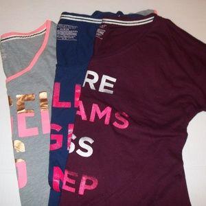 Victoria's Secret 3 Night Shirts Pajamas XS